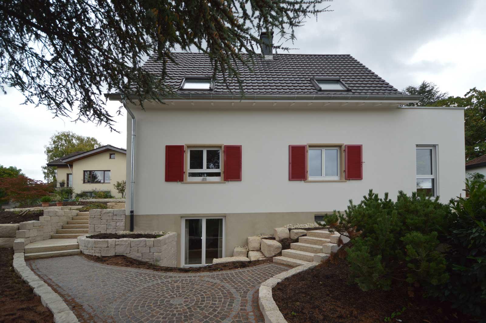 Umbau einfamilienhaus mit doppelgarage in weil haltingen for Einfamilienhaus mit doppelgarage